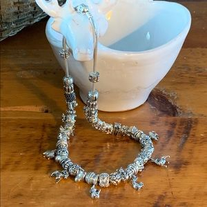 "Pandora 19.7"" Snake Chain Animal Necklace"